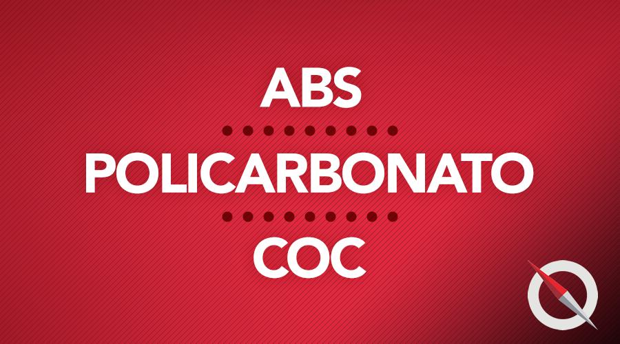 ABS, Policarbonato e COC: saiba mais sobre esses polímeros