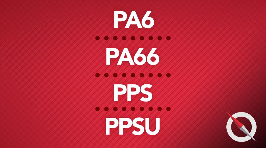 PA6 , PA66,  PPS e PPSU